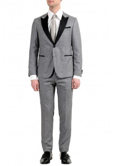 "Hugo Boss ""Novid/Bristow_1"" Men's Wool Silk Slim Gray Tuxedo Two Button Suit"