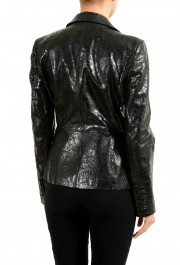 Gucci 100% Leather Black Double Breasted Women's Blazer: Picture 3
