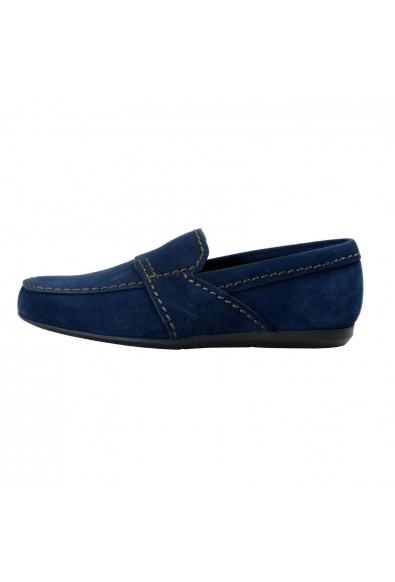 Prada Men's Blue Suede Leather Loafers Slip On Shoes: Picture 2