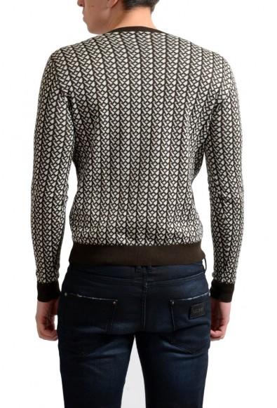 Prada Men's Silk Multi-Color V-Neck Sweater: Picture 2