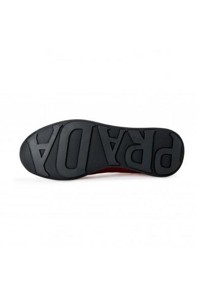 Prada Men's 4E3355 Red Nylon Fashion Sneakers Shoes: Picture 2