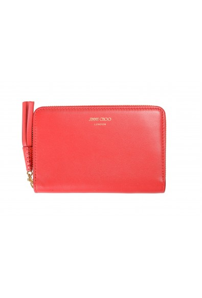 """Jimmy Choo Women's Red Leather """"ATHINI"""" Zip Around Wallet"""