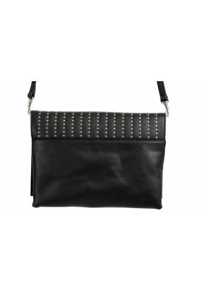 Just Cavalli 100% Leather Black Embellished Women's Shoulder Bag Clutch: Picture 2