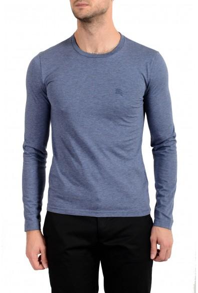 Burberry Men's Blue Crewneck Long Sleeve T-Shirt