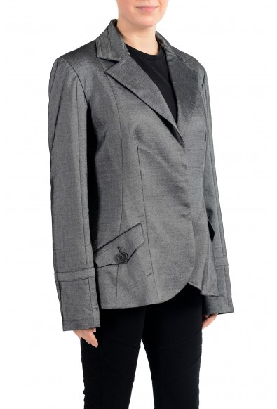 John Galliano Women's Gray Wool Three Button Down Blazer : Picture 2