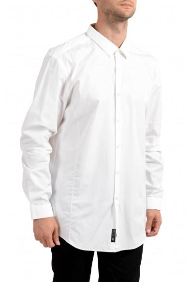 "Hugo Boss Men's ""IIan"" Slim Fit White Long Sleeve Dress Shirt"