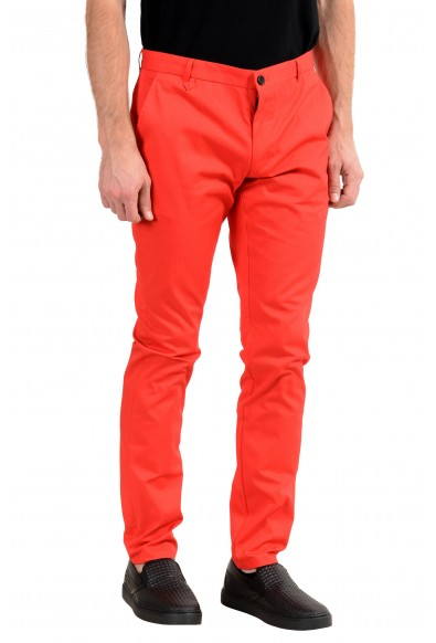 """Hugo Boss """"Heldor183"""" Men's Red Stretch Casual Pants: Picture 2"""