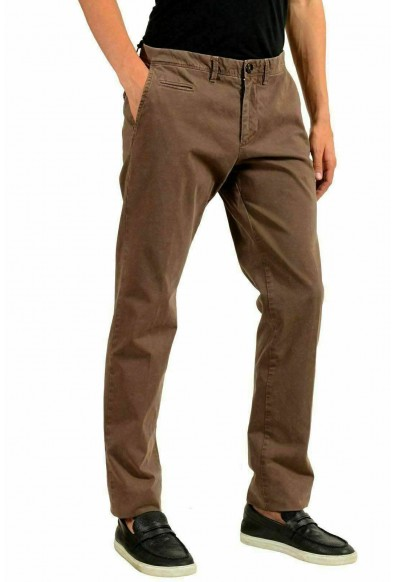 Moncler Men's Brown Stretch Casual Pants: Picture 2