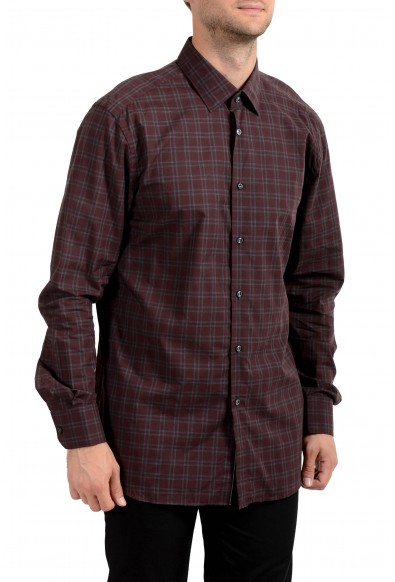 "Hugo Boss Men's ""T-Scott"" Slim Fit Plaid Long Sleeve Dress Shirt"