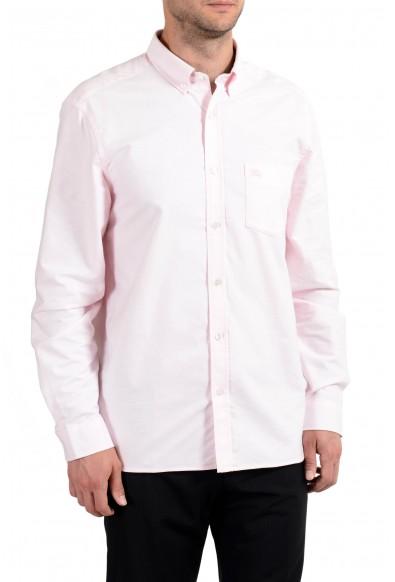Burberry Men's Light Pink Button-Down Long Sleeve Casual Shirt