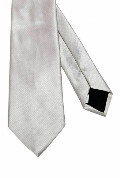 Valentino Light Gray Men's 100% Silk Neck Tie