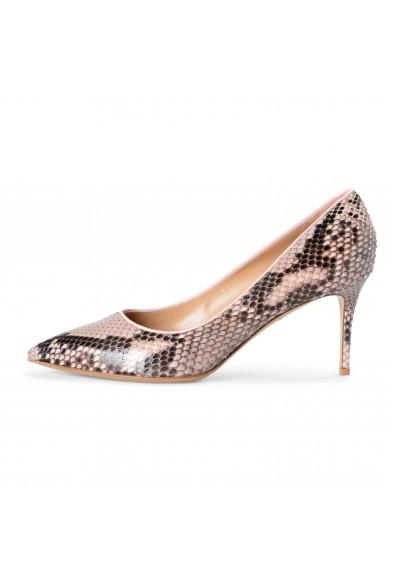 "Salvatore Ferragamo Women's ""Fiore 70"" Pink Python Skin Classic Pumps Shoes: Picture 2"