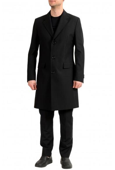 "Hugo Boss Men's ""Gondor1"" Black Extra Slim Fit Button Down Coat"