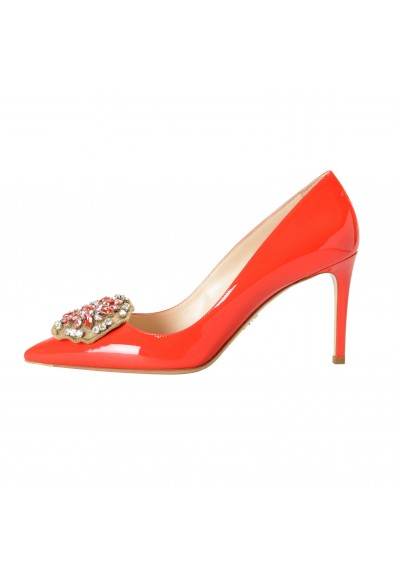 Prada Women's Red Patent Leather High Heel Pumps Shoes: Picture 2
