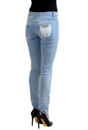 """Just Cavalli """"Luxury"""" Blue Women's Skinny Legs Distressed Jeans  : Picture 3"""