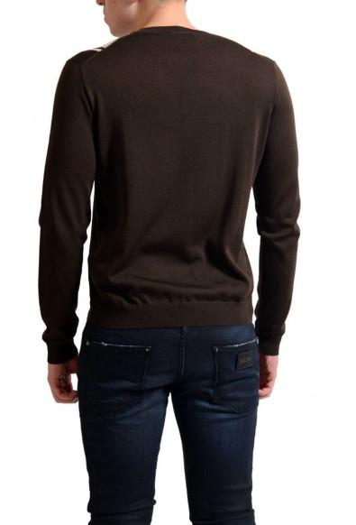 Prada Men's Multi-Color Silk V-Neck Sweater: Picture 2