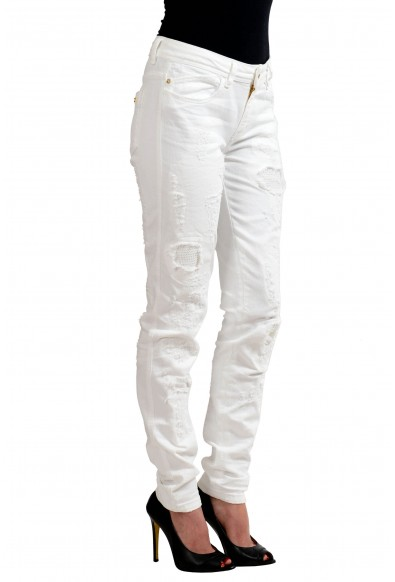 """Just Cavalli """"Luxury"""" White Women's Skinny Legs Distressed Jeans: Picture 2"""