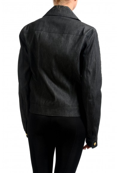 Versace Versus Faux Leather Full Zip Women's Basic Jacket: Picture 2
