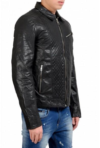 Just Cavalli Men's Black Full Zip 100% Leather Jacket: Picture 2
