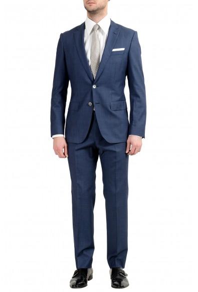 "Hugo Boss ""Hutson4/Gander1"" Men's 100% Wool Blue Two Button Suit"