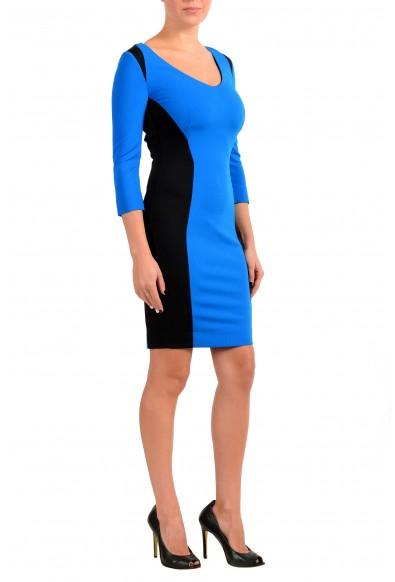 Just Cavalli Women's Blue & Black 3/4 Sleeve Bodycon Dress : Picture 2