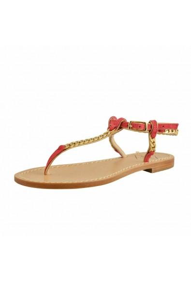 "Emanuela Caruso ""Capri"" Women's Golden Chain Flat Sandals Shoes"