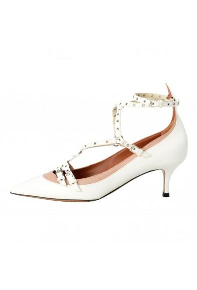 Valentino Garavani Women's Leather Two Tones Ankle Strap Kitten Heels Shoes: Picture 2