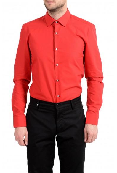 """Hugo Boss """"C-Jenno"""" Men's Slim Red Long Sleeve Dress Shirt: Picture 2"""
