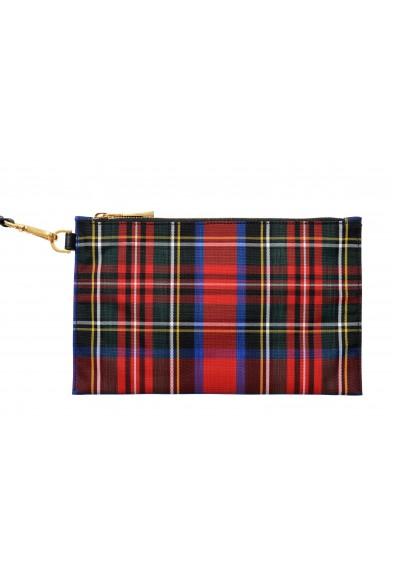 Versace Women's Multi-Color Canvas Plaid Wristbag Clutch Bag: Picture 2
