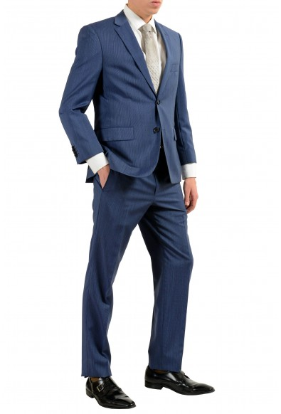 """Hugo Boss """"Paolini1/Movio1US"""" Men's 100% Wool Blue Two Button Suit: Picture 2"""