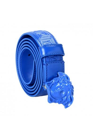 Versace 100% Leather Blue Women's Belt