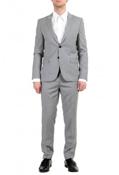 "Hugo Boss ""Arti/Hesten182F5"" Men's 100% Wool Gray Extra Slim Two Button Suit"