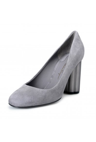 Salvatore Ferragamo Women's Lucca 85 Suede Leather High Heel Pumps Shoes