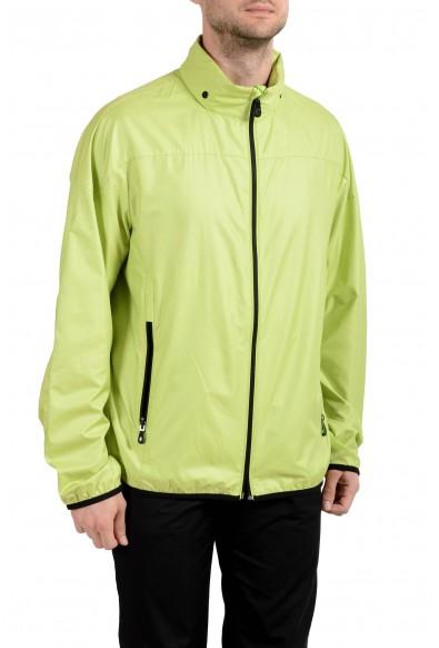 """Hugo Boss """"Jiano"""" Men's Full Zip Green Hooded Windbreaker Jacket : Picture 2"""