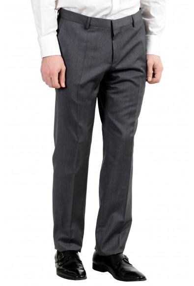 "Hugo Boss ""Huge5/Genius3"" Men's 100% Wool Gray Plaid Two Button Suit: Picture 2"