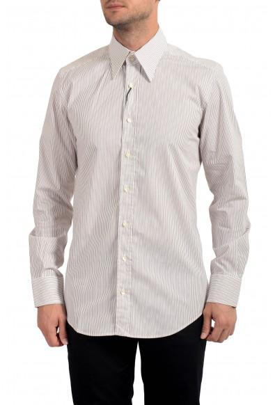 Dolce&Gabbana Men's Slim Striped Long Sleeve Dress Shirt
