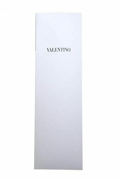 Valentino Men's 100% Silk Gray Geometric Print Neck Tie: Picture 2