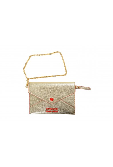 "Miu Miu Women's Gold ""Madras Forever"" Envelope Snap Heart Wristlet Wallet"