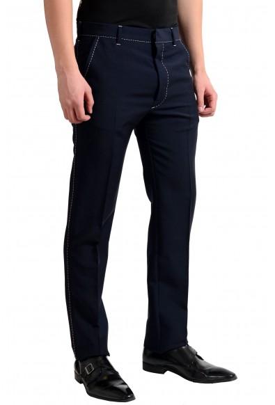 Prada Men's Wool Blue Flat Front Dress Pants: Picture 2