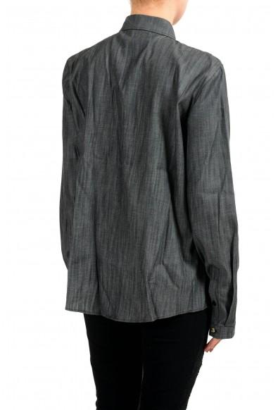 Versace Jeans Gray Button Down Denim Women's Shirt: Picture 2