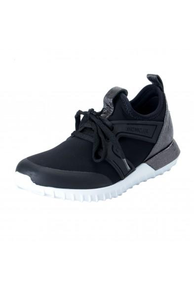 "Moncler Women's ""MELINE"" Black Neoprene Leather Fashion Sneakers Shoes"