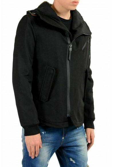 Just Cavalli Men's Wool Black Hooded Full Zip Jacket : Picture 2