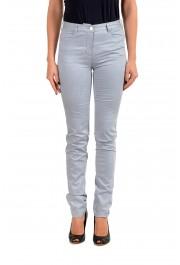 Maison Margiela MM6 Women's Gray Perforated Light Jeans
