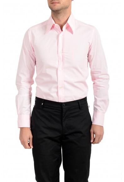 Dolce & Gabbana Men's Pink Button Down Long Sleeve Dress Shirt