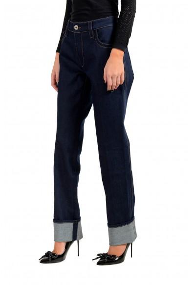 Prada Women's Dark Blue GFP413 Elastic Straight Jeans: Picture 2
