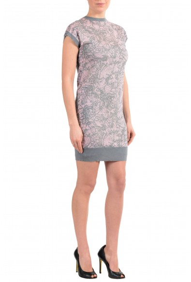 John Galliano Women's Multi-Color 100% Wool Knitted Bodycon Dress : Picture 2