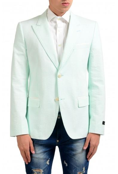 Marc Jacobs Men's Green Two Button Blazer Sport Coat