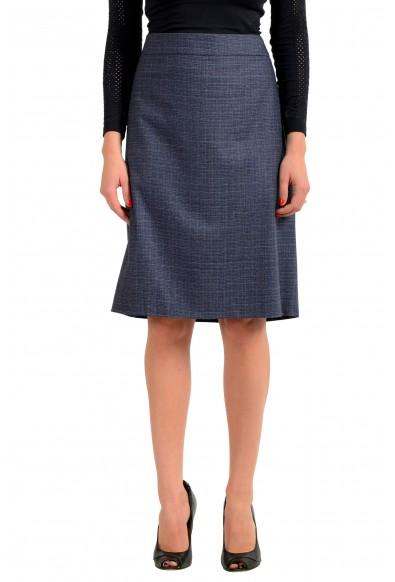 "Hugo Boss Women's ""Virusa"" Gray 100% Wool Pencil Skirt"