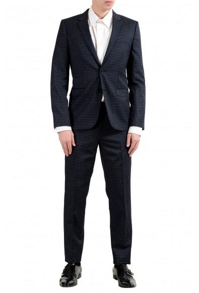 "Hugo Boss ""Astian/Hets"" Men's Wool Plaid Two Button Suit"