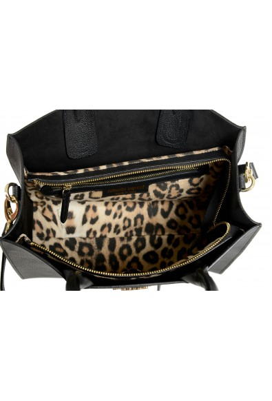Roberto Cavalli Women's Black Textured Leather Shoulder Handbag Tote Bag: Picture 2